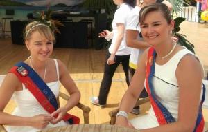 Inauguration de Rouen plage par les Miss Rouen